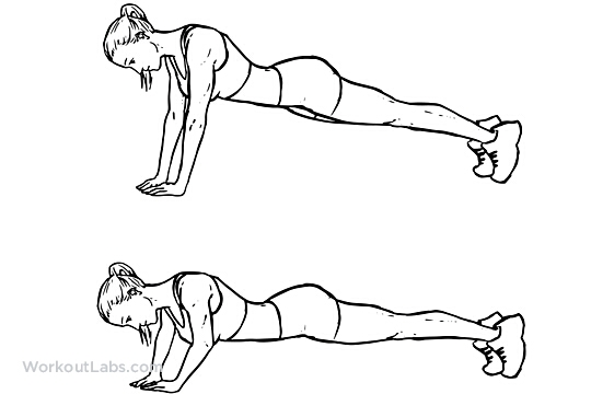 3.) Push-ups are simple, and a great core and arm exercise. Do as many push ups as you can for 1 minute. Keep going, persevere to get your summer body.