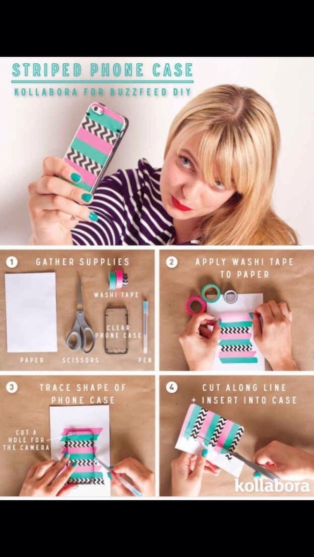 Make a phone case using washi tape