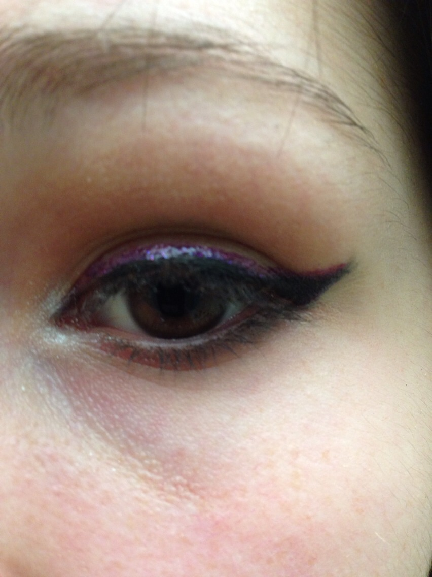 Use this to accentuate the inner corner of your eye, and out a little bit onto the waterline.