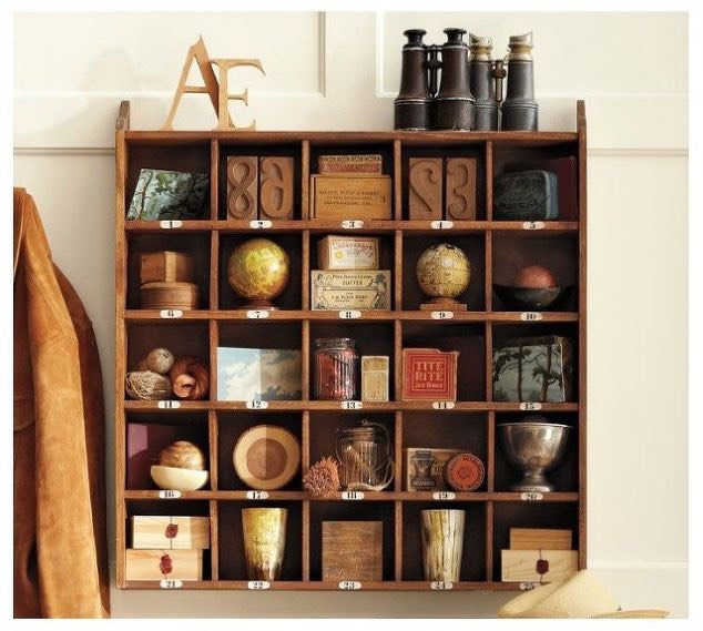 Build a vintage hotel-inspired cubby organizer.