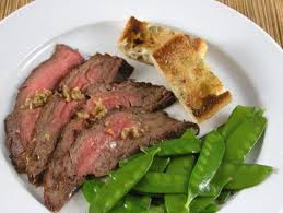 Steak with and equal portion of Beans to equal out the protein