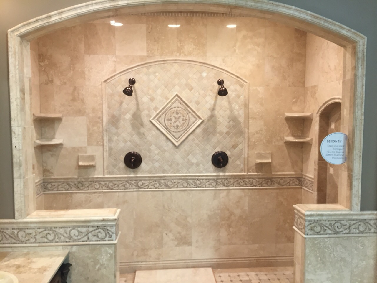 Beautiful shower I found at my local tile shop