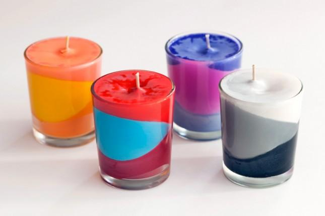 Why not wow there kids with an array of colors by creating cool modern candles.