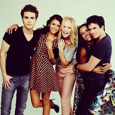 The vampire diaries The vampire diaries is an amazing tv show that showcases the life of Elena Gilbert. I have laughed andcried alongside the characters in this show and definitely recommend you to watch it I personally am obsessed with it.