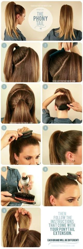 16. Get Ariana Grande-level ponytail fullness with a ponytail extension.