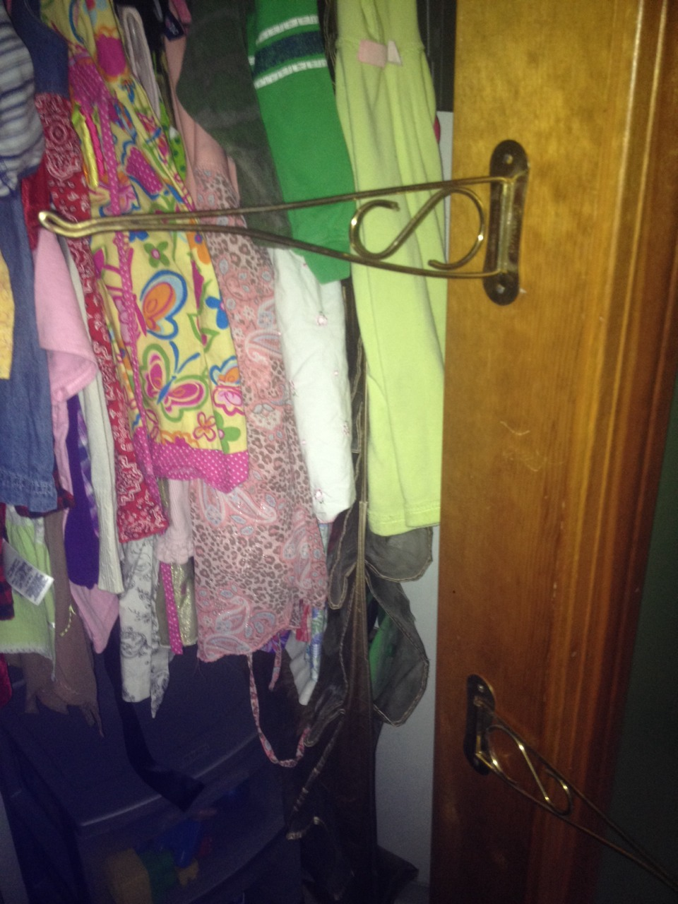 So as I do laundry everything gets hung on these wich frees up my hands to move the clothes on the rack around so everything goes where it belongs and I'm not dropping clothes repeatedly lol👍
