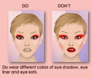If you like to match colors that's fine, but do not over do on colors because it will look washed out.