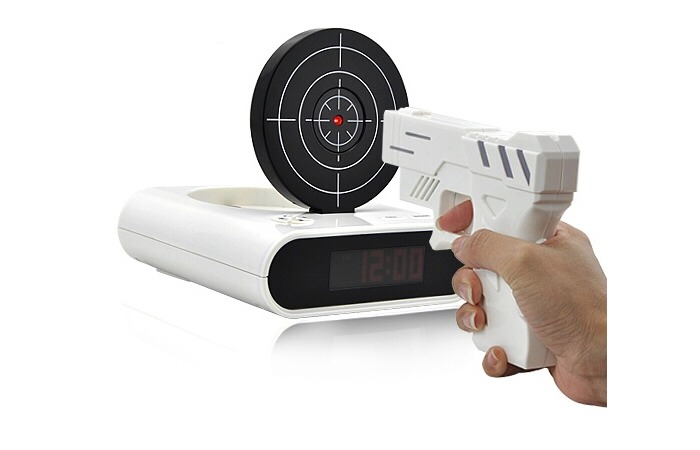 Now this one my parents bought me and I'm IN LOVE with it!!! It makes my gun aim perfect and even feels like a real gun being shot!  The way it works is you set the time for it to go off.  Once it does you shoot at It until you hit the red dot. Then you have 5 minutes until it goes off again. 😜💖