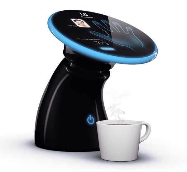 16. A coffeemaker that uses handprint recognition to make the perfect cup of coffee according to personal preference.