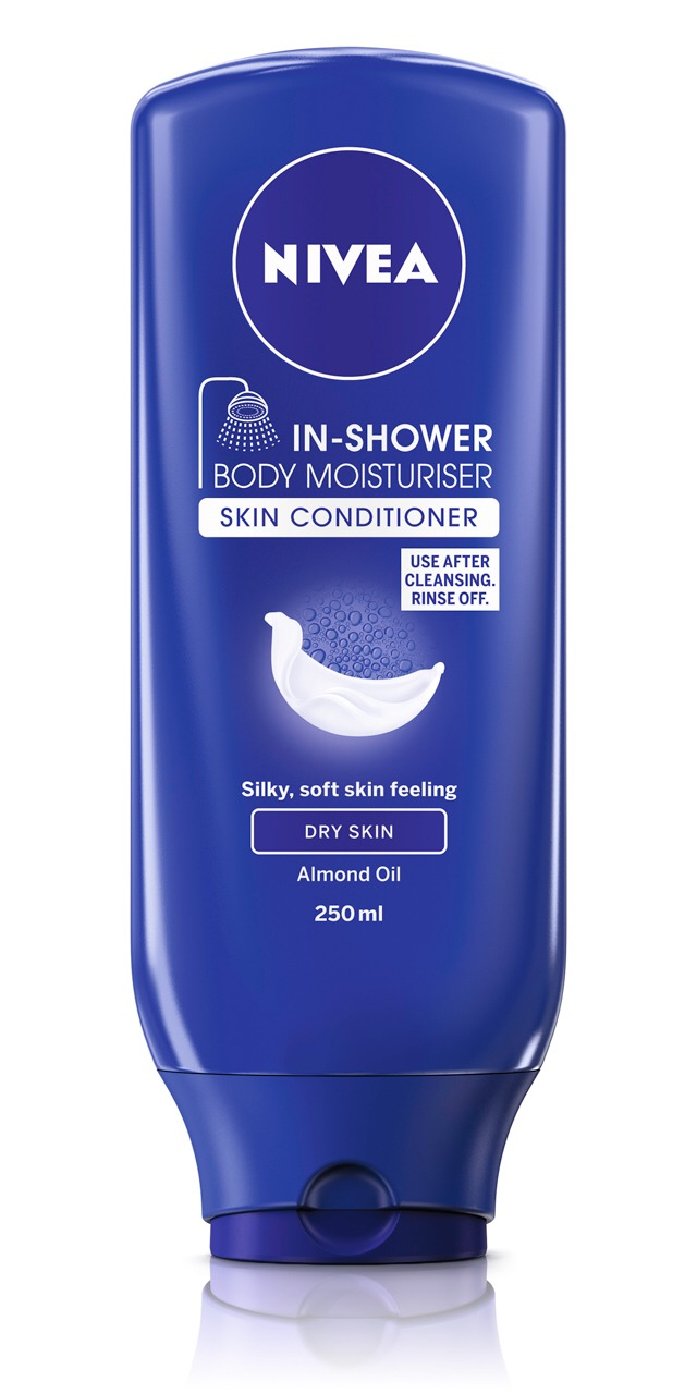 Use this Nieva in shower moisturiser after your regular wash routine in the shower. Saves time and you don't need to moisturise after your shower. Just dry yourself as normal. Works a treat! :)