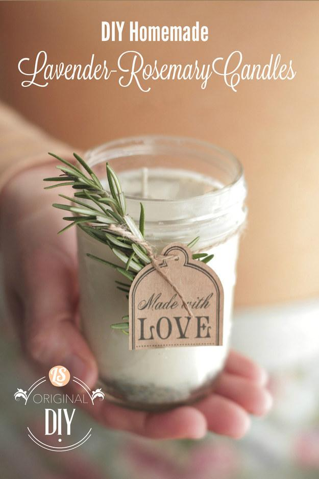 10. This one that would make a perfect hostess gift.  http://livesimply.me/2014/11/30/diy-homemade-candles-natural-lavender-rosemary-scent/