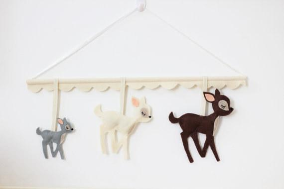 10. Hang this Bambi-inspired mobile above the crib.