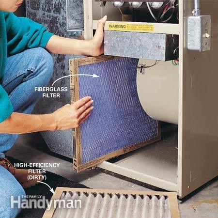 Regularly change your furnace filter to ensure your family is breathing clean air.