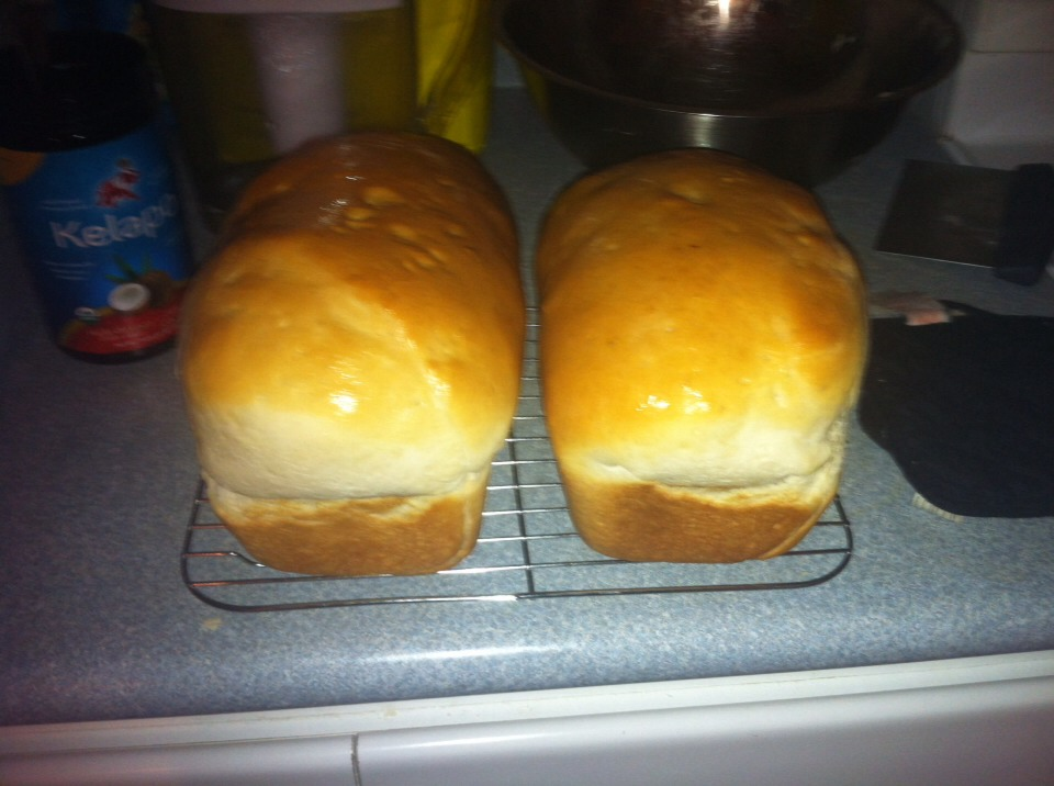 Here is my bread looks exactly like regular homemade bread and taste the same, but i add my love and here is two secret ingredients of mine ;)