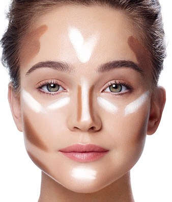Trying to contour... Don't go overboard  Try this simple picture to get a good highlight and contour