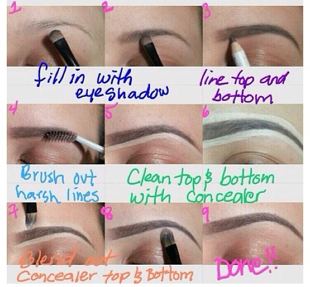 For those who struggle getting the perfect eyebrows here it is!  Like and save :)