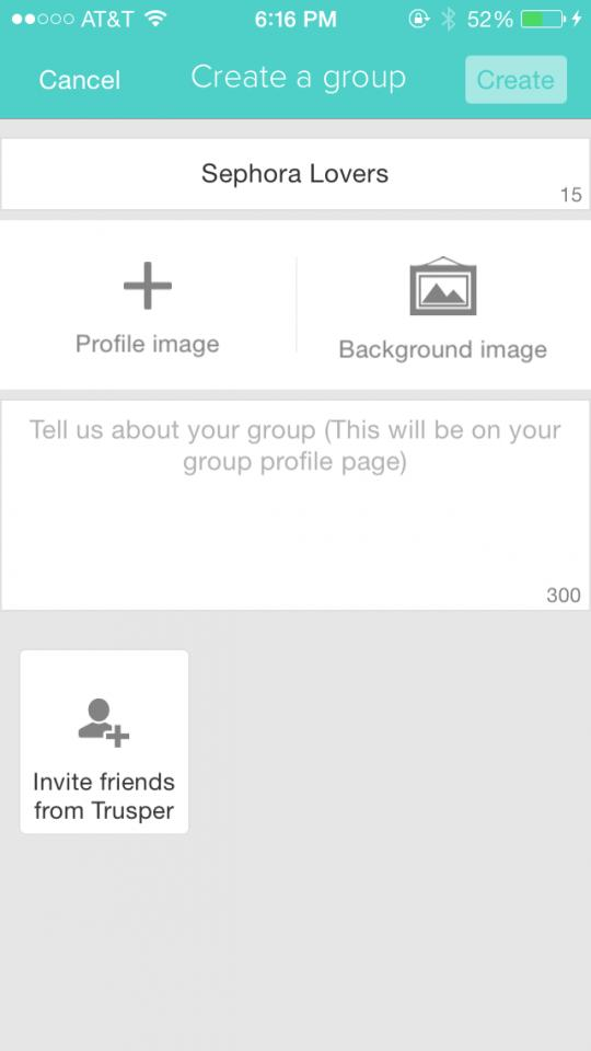 You can create your own group to chat and share your favorite tips amongst your friends you invite. Simply go to your profile page, click on groups then Create a New Group.