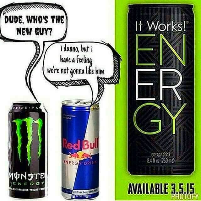 Don't mind the date I just showing you the difference between the other energy drinks