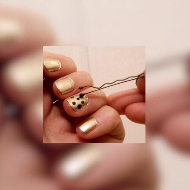 Use a bobby pin to apply dots 😊