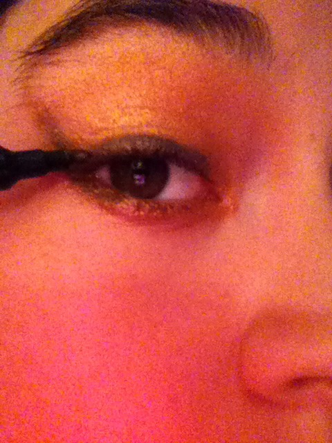 Use black liner at the upper lash line and flick
