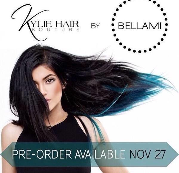 She even has her own hair extension line. This is it right here👆🏼👆🏼