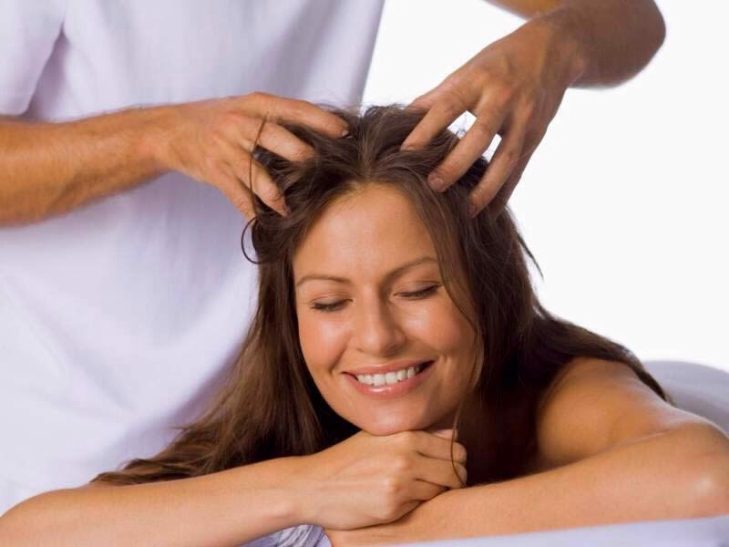 Massage your scalp, it stimulates growth and it increases blood circulation