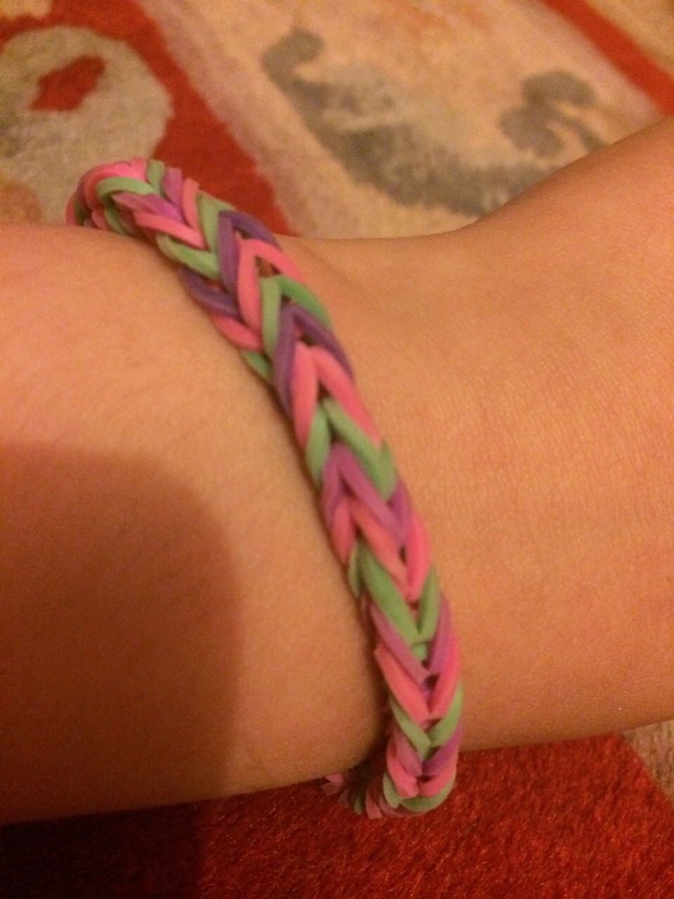 And that is how to make a loom band.  Thanks for watching 😀