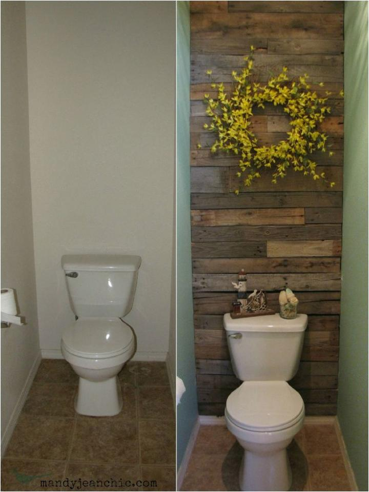 Love the wall made from pallets!