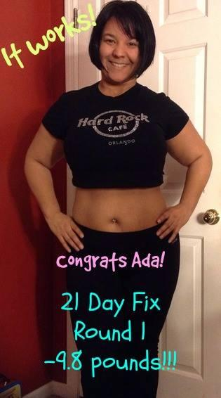 My resutls after completeing one round of the 21 day fix