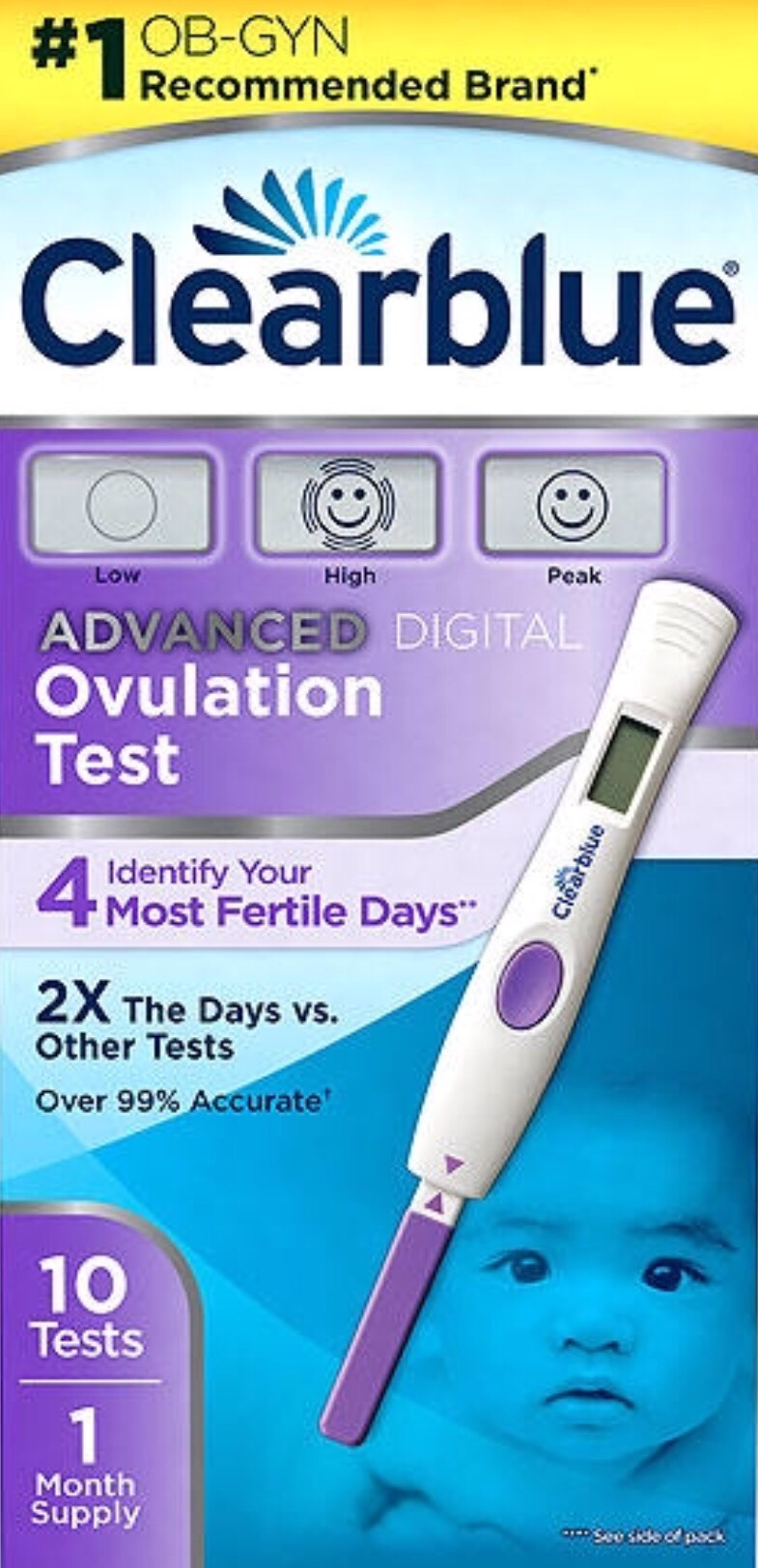 When trying to get pregnant, use an ovulation test.