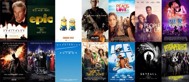 Despicable 1 & 2 Won't back down  Ice age   Minions movie