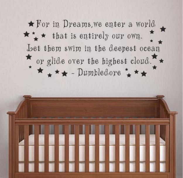 9. This wall decal featuring Dumbledore's timeless wisdom.  $12.99