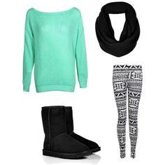 leggings are soo cute AND very comfy! with a sweatshirt and a pair of Uggs, it makes the perfect outfit for a winter day at school.