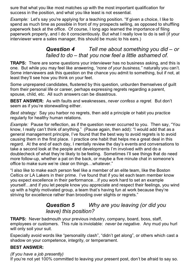 Very Useful For Interviews When Applying For A Career
