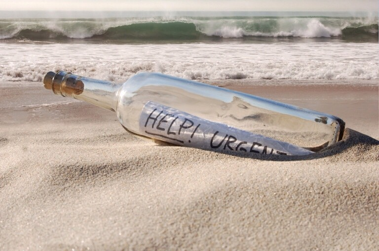 Send a message in a bottle out to sea!