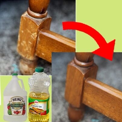 3 parts canola oil, 1 part vinegar