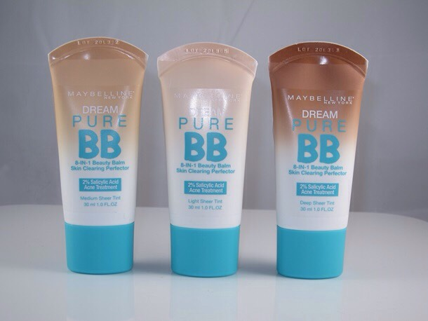 Maybelline Dream Pure bb creams. So lightweight and comes out beautiful.