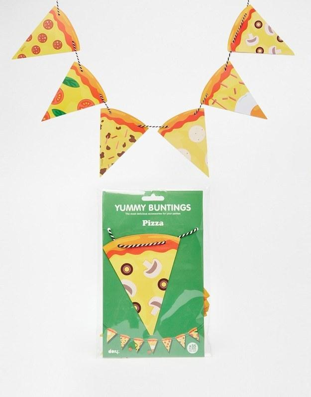 3. Bunting to decorate your dining room.
