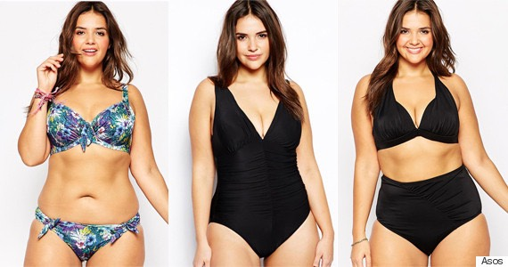 Curvy girls, whether it's a bikinni1pieceor high waisted bathing suit, wearwhat you feel most comfortable &confident in. 2pieces can befun and flirty, while one prices are seen as abit less revealing. High waisted extenuates your curves. Which ever style best fits you, show off those curves!