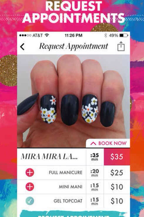 2. Top Coat lets you browse and book local nail artists based on their uploaded photos.