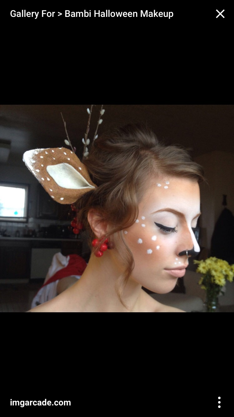 A simple yet pretty idea is fawn/deer makeup 💓
