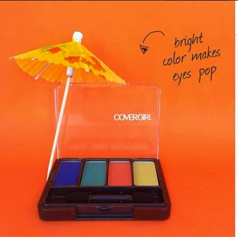 Want to make summer last? Choose an eye shadow palette inspired by your favorite tropical destination. #easybreezybeautytips #covergirl