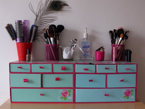 Whsmith sell these really nice storage boxes Why bother going somewhere else they also sell pencil and desk tidies that will keep all your brushes in place🙋😍