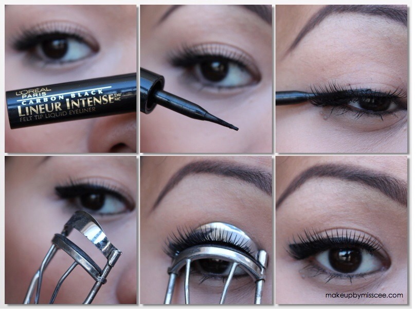Step 6: Using an eye lash curler, mix both the fake and real eye lashes together.