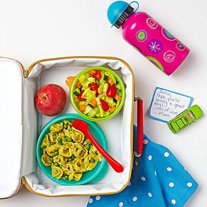 Tyler Florence Dad of Dorothy, 4, and Hayden, 5; host of Tyler's Ultimate on Food Network; and creator of Sprout, a line of organic baby and toddler foods  LUNCH MENU  Tortellini salad (cook pasta; add peas in last 2 minutes; toss with pesto)  Peach  Small tossed salad