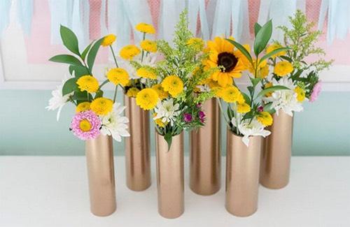14.  Make flower vases.