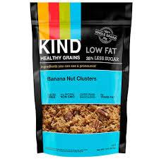 KIND Banana Nut Clusters in Low-Fat Milk  This granola's made with 100% whole grains, which are high in the carbs that will help you score a more regular circadian rhythm. Low-fat milk is also full of tryptophan, which converts to serotonin and melatonin in the brain and may have a sedative effect.