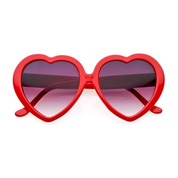 Heart shaped sunglasses are so important!