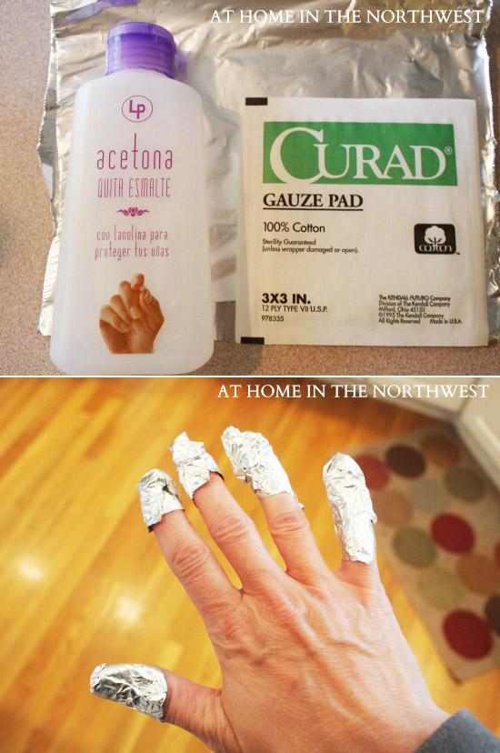 15. Here's how you remove a gel manicure at home: