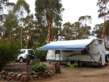 Toodyay Caravn Park + Toodyay Holiday Park & Chalets.   Each on opposite sides of the historical town of Toodyay Wa.